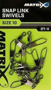 Krętlik Matrix Snap Link Swivels 14 / 10 szt