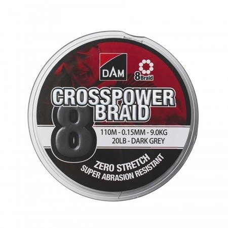 Plecionka DAM CROSSPOWER 8-BRAID 0.10MM/110M