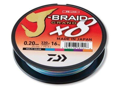 Plecionka Daiwa J-BRAID GRAND X8 0.13MM / 150M / MC