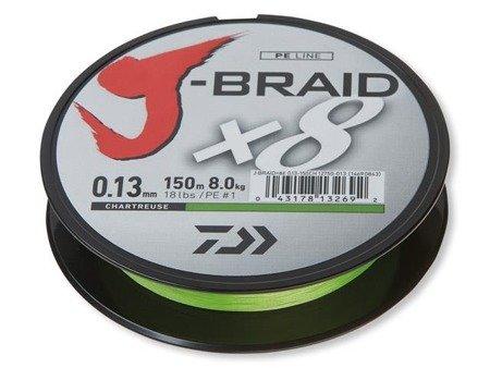 Plecionka Daiwa J-BRAID X8 0.22MM / 150M / CH